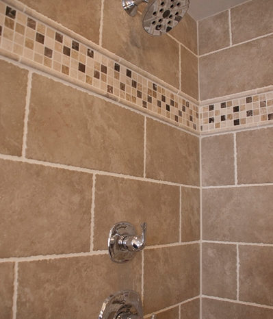 Shower fitting and tile detail