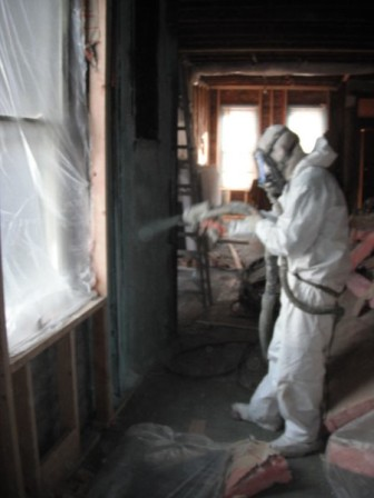 During - applying insulation