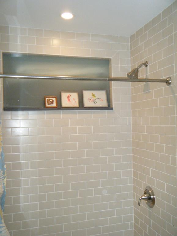New 2nd floor bath shower