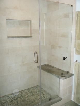 Master bath after - shower