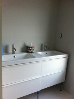 New master bath vanity