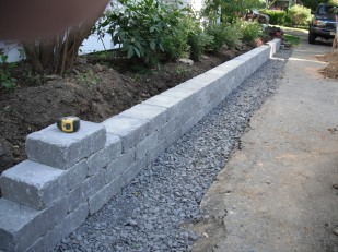New stone wall taking shape