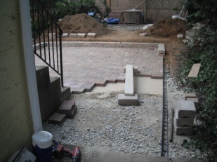 Pavers progress