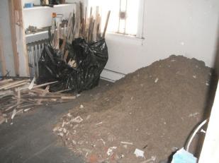 Demolition debris