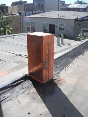 Copper covered post
