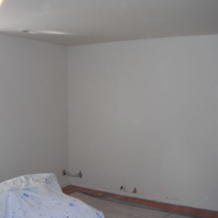 New drywall and flooring