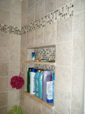New shower and tile detail
