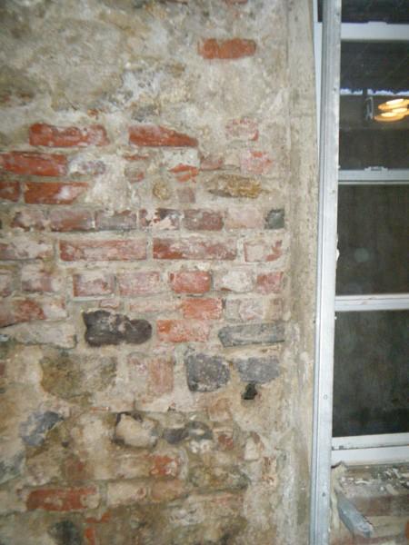 Existing brick walls