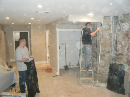 Parging the walls