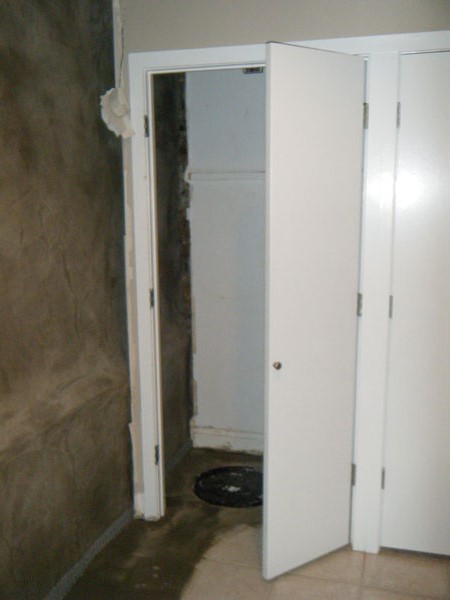 The new sump closet