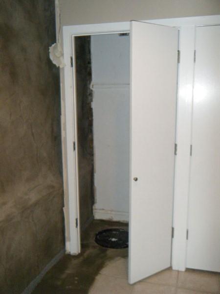 The new sump closet