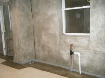 Parging existing walls