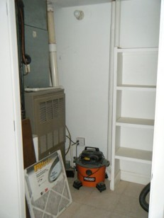 New closet and shelving
