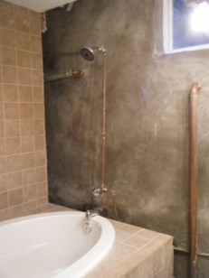New shower and piping