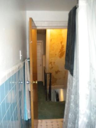 Hall and bath during renovation