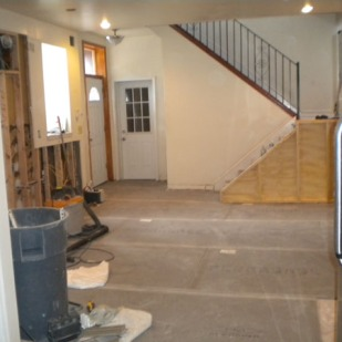 Kitchen during renovation